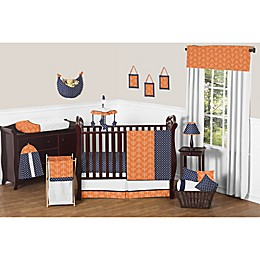 Sweet Jojo Designs Arrow Crib Bedding Collection in Orange/Navy