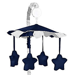 Sweet Jojo Designs Navy and Grey Stripe Musical Mobile