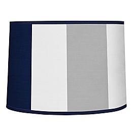 Sweet Jojo Designs Navy and Grey Stripe Lampshade