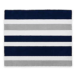 Sweet Jojo Designs Navy And Grey Stripe Accent Rug