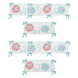 Sweet Jojo Designs Emma 4 Piece Crib Per Set In White Turquoise