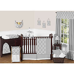 Sweet Jojo Designs Trellis Bedding Collection in Grey/White