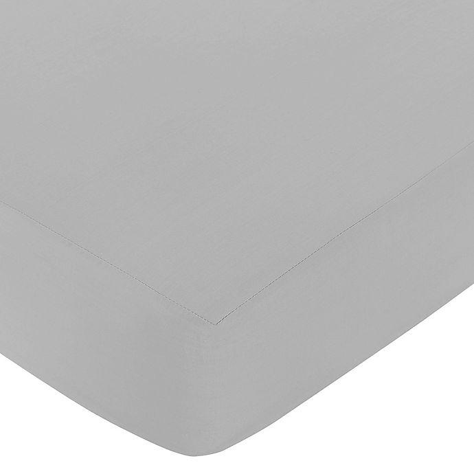 Alternate image 1 for Sweet Jojo Designs® Trellis Gray Fitted Crib Sheet