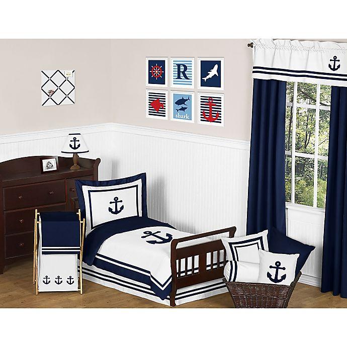 Alternate image 1 for Sweet Jojo Designs Anchors Away 5-Piece Toddler Bedding Set