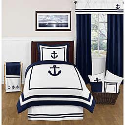 Sweet Jojo Designs Anchors Away Twin Comforter Set