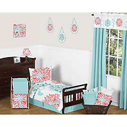 Sweet Jojo Designs Emma Toddler Bedding Collection in White/Turquoise
