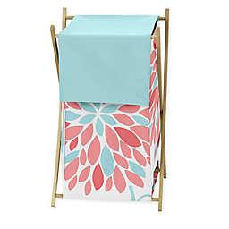 Sweet Jojo Designs® Emma Laundry Hamper in White/Turquoise