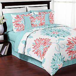 Sweet Jojo Designs Emma Comforter Set in White/Turquoise