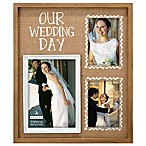 Malden® 3-Photo  Our Wedding Day  Burlap Collage Picture Frame