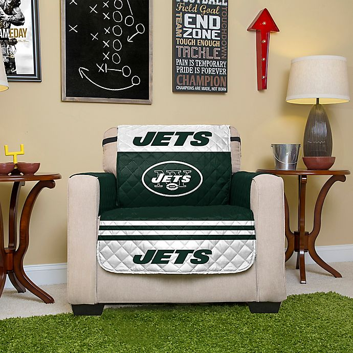 Swell Nfl New York Jets Chair Cover Bed Bath Beyond Unemploymentrelief Wooden Chair Designs For Living Room Unemploymentrelieforg