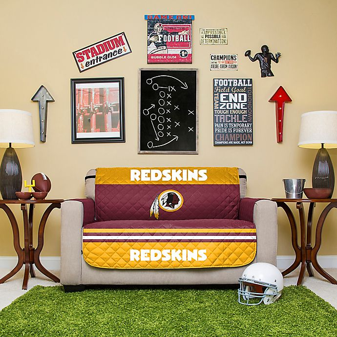 Amazing Nfl Washington Redskins Love Seat Cover Bed Bath Beyond Squirreltailoven Fun Painted Chair Ideas Images Squirreltailovenorg