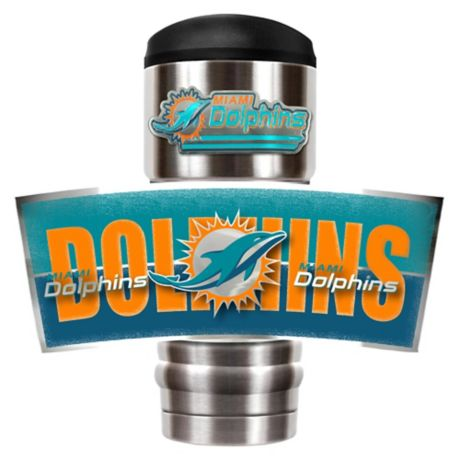 Nfl Miami Dolphins Stainless Steel 18 Oz Insulated