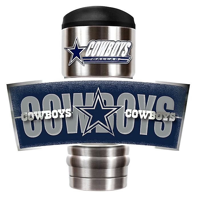 Dallas Cowboys Stainless Steel Coasters 4 Pack: NFL Dallas Cowboys Stainless Steel 18 Oz. Insulated
