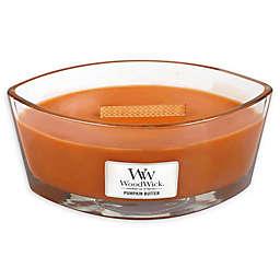 WoodWick HearthWick Flame Pumpkin Butter Glass Votive Candle