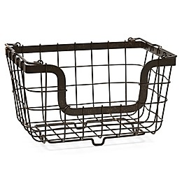 Gourmet Basics by Mikasa® General Store Stacking Organization Basket in Black