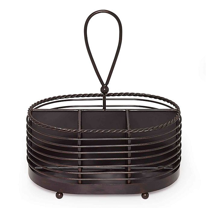 Alternate image 1 for Mikasa® Gourmet Basics 10-Inch Rope Napkin and Flatware Caddy in Black