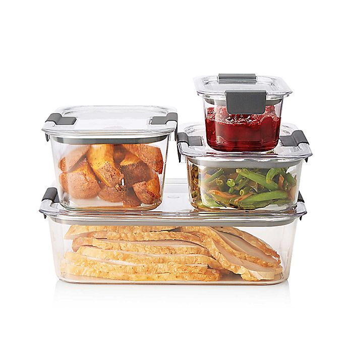 Alternate image 1 for Rubbermaid® Brilliance 8-piece Food Storage Container Set