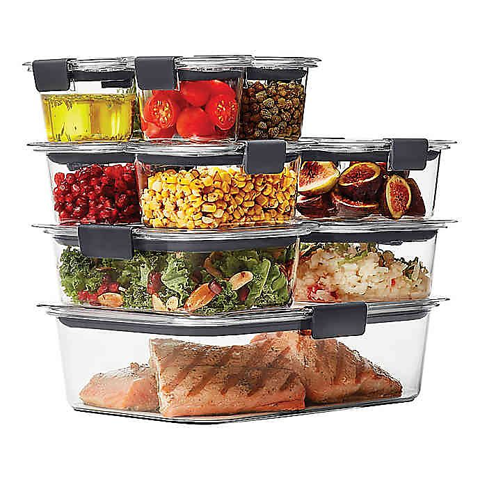 Rubbermaid® Brilliance 22-piece Food Storage Container Set | Bed Bath & Beyond