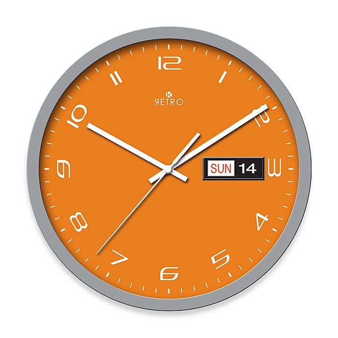Orange Retro 14 Wall Clock
