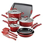 Rachael Ray™ Porcelain Nonstick 14-Piece Cookware Set in Gradient Red