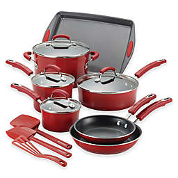 Rachael Ray™ Classic Brights Nonstick Hard Enamel 14-Piece Cookware Set in Red Gradient