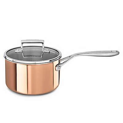 KitchenAid® Tri-Ply Copper 3 qt. Covered Saucepan