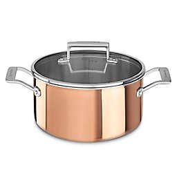 KitchenAid® Tri-Ply Copper 6 qt. Covered Low Casserole