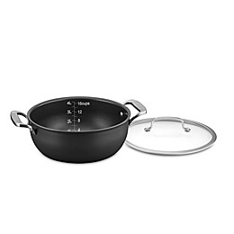 Cuisinart® DS Induction Ready Hard Anodized 5-Quart Dutch Oven With Cover in Grey