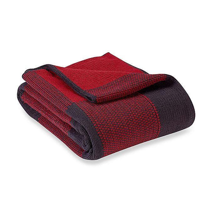 Alternate image 1 for Buffalo Plaid Knit Chenille Throw Blanket