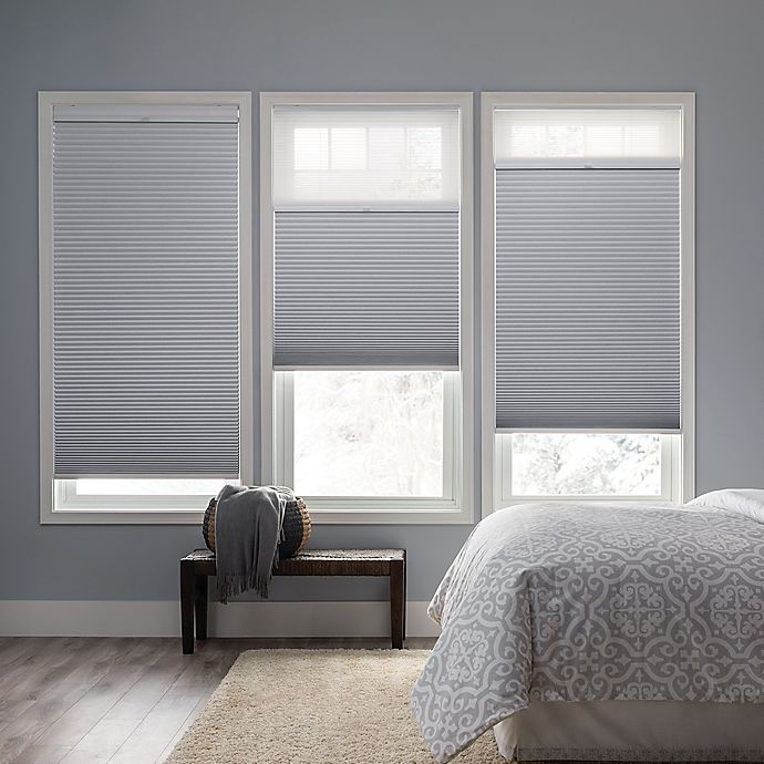 Alternate image 1 for Real Simple® Cordless Day/Night Cellular 48-Inch Length Shade in Snow