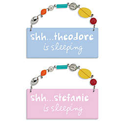 """Sandra Magsamen """"Shhh...He (or She) Is Sleeping"""" Personalized Wall Plaque"""