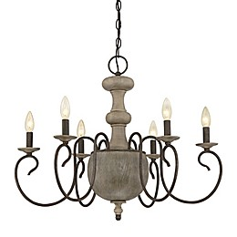 Quoizel Castile 6-Light Ceiling-Mount Chandelier
