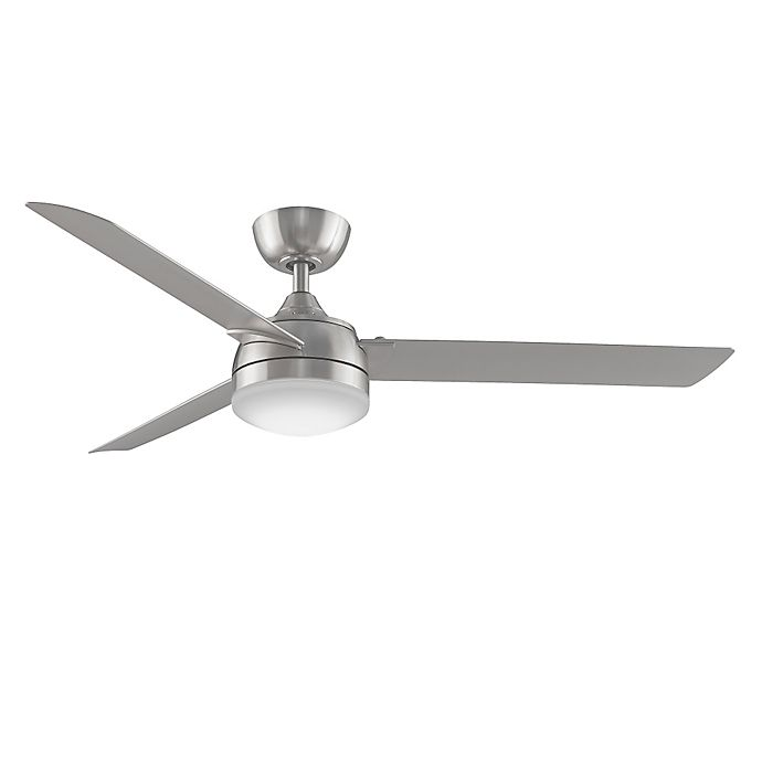 Alternate image 1 for Fanimation Xeno 56-Inch Single-Light Ceiling Fan in Brushed Nickel with Remote Control
