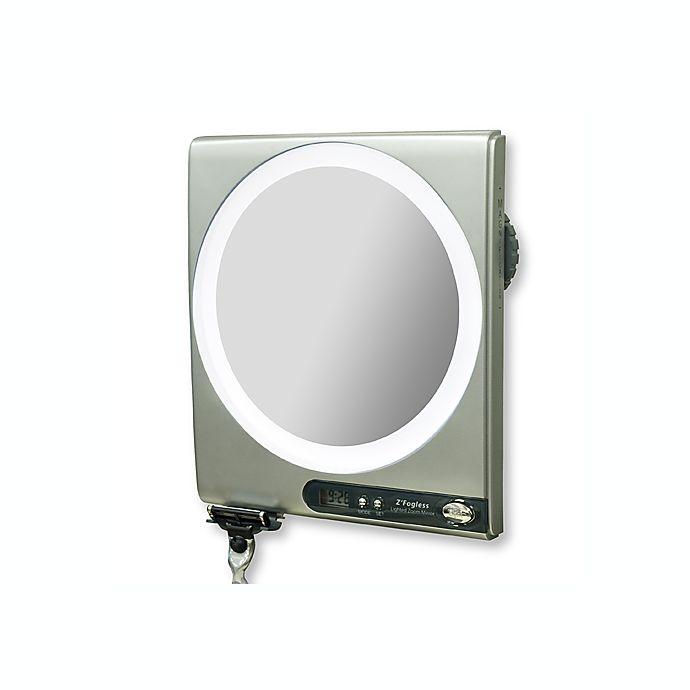 Z Fogless 5x 1x Power Zoom Lighted Shower Mirror Bed