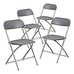 Flash Furniture Plastic Folding Chairs (Set of 4)