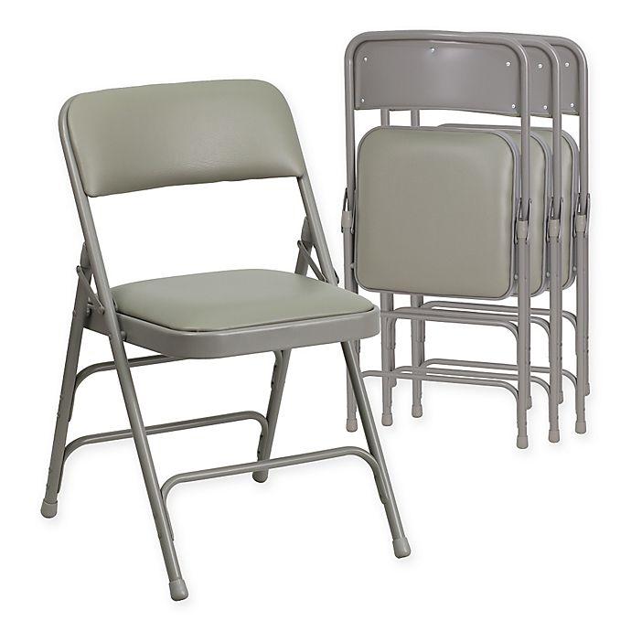 Alternate image 1 for Flash Furniture Hercules Vinyl 4-Pack Folding Chair