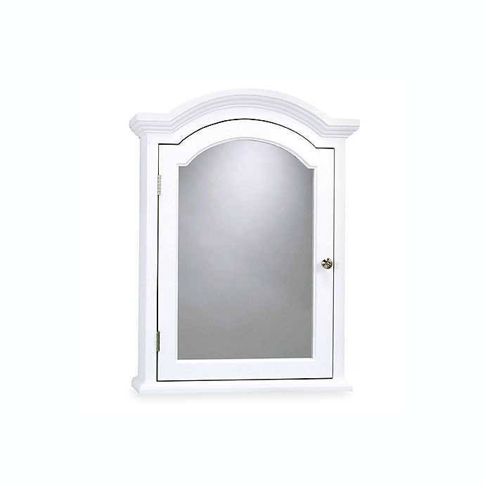 Arch Crown Molding White Medicine Cabinet Bed Bath And