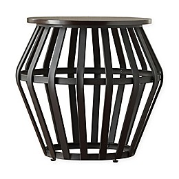 iNSPIRE Q® Taloga Mixed Media Drum Table in Black