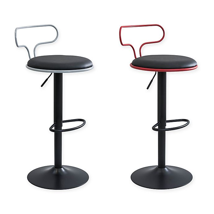 Lumisource Contour Contemporary Adjustable Bar Stool Bed