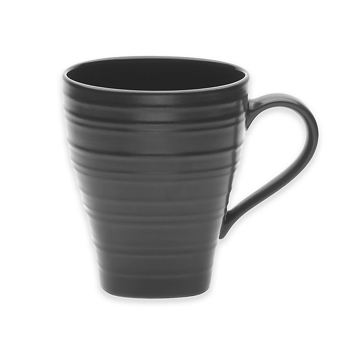 Alternate image 1 for Mikasa® Swirl Square 16 oz. Mug in Black
