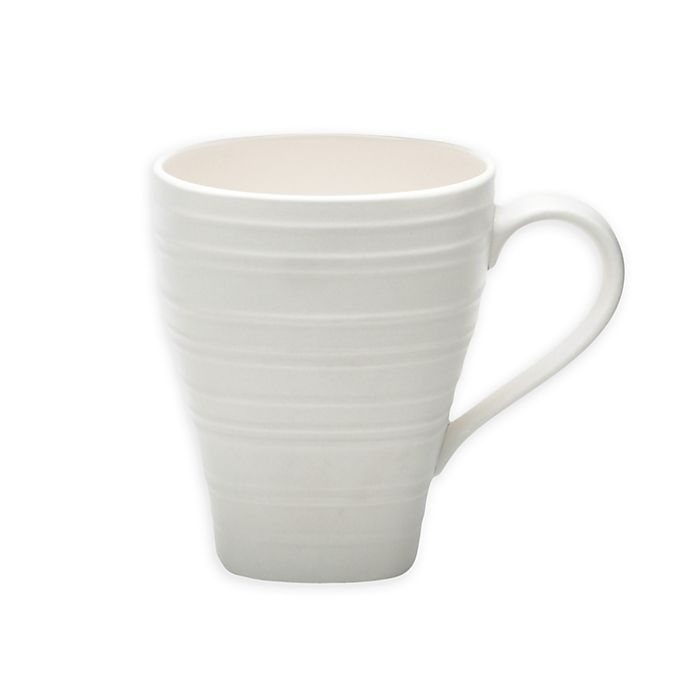 Alternate image 1 for Mikasa® Swirl Square Mug in White