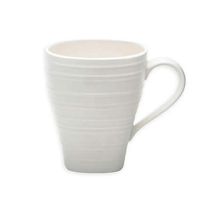 Mikasa® Swirl Square Mug in White