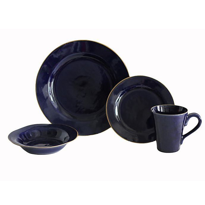 Alternate image 1 for Baum Canvas 16-Piece Dinnerware Set in Indigo