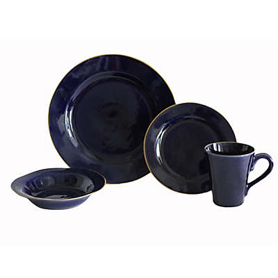 Baum Canvas 16-Piece Dinnerware Set in Indigo