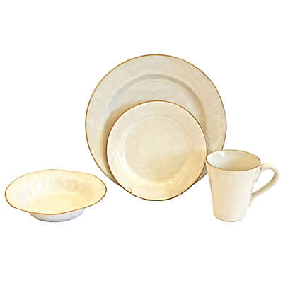 Baum Canvas 16-Piece Dinnerware Set in Ivory