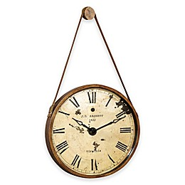 Bassett Mirror Company 24-Inch Watchman Oversized Wall Clock in Gold