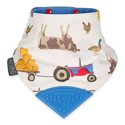 Cheeky Chompers® Neckerchew® Farmer Joules 2-in-1 Teething Bandana Bib in White