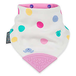 Cheeky Chompers® Neckerchew® Cat Dog Spot 2-in-1 Teething Bandana Bib in Pink