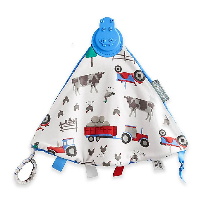Alternate image 1 for Cheeky Chompers® Comfortchew® Farmer Joules Teething Comforter in Blue