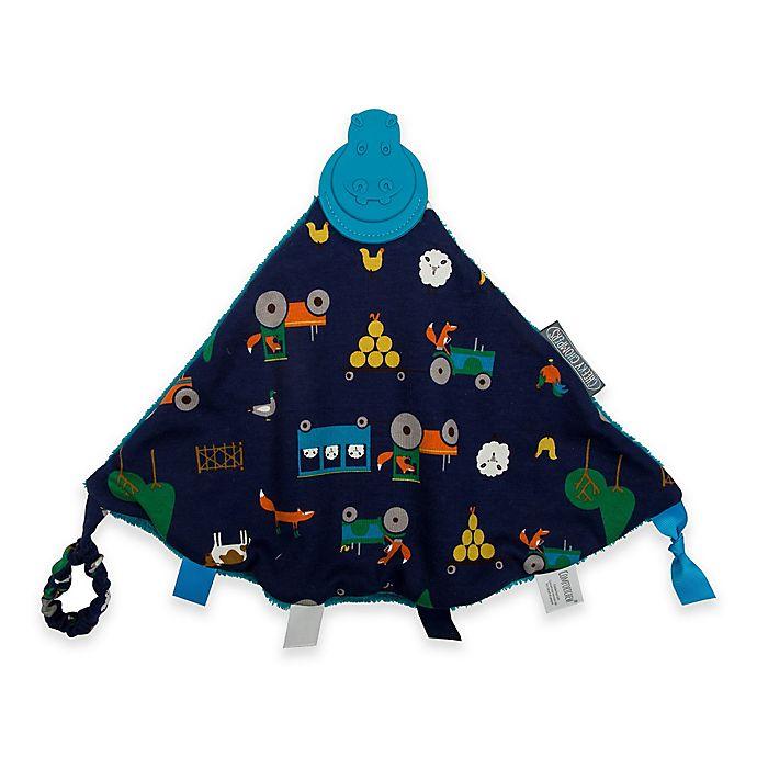Alternate image 1 for Cheeky Chompers® Comfortchew® Reynard's Farm Teething Comforter in Navy Blue